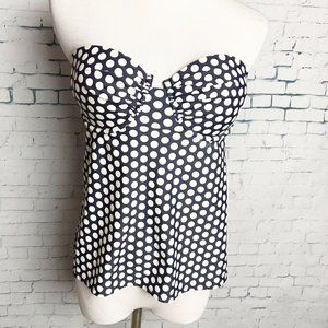 New J. CREW Size 8 Polka Dot Ruched Underwire Tank